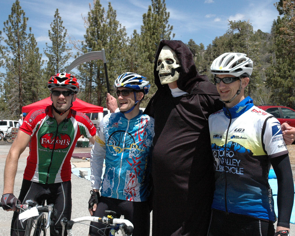 Three Seriously Fast Cyclists and One Grim Reaper