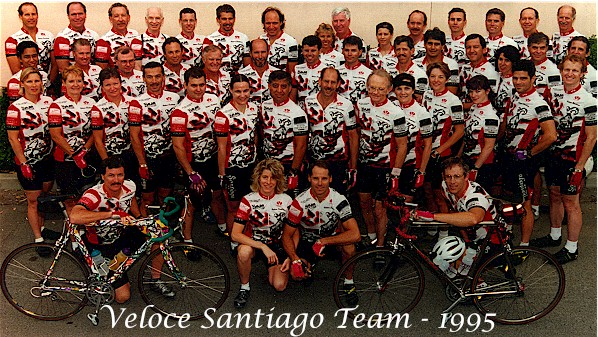 Veloce Santiago Cycling Team Photo from 1995